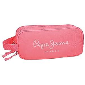 Pepe Jeans Plain Color Neceser de Viaje, 1.98 litros, Color Coral