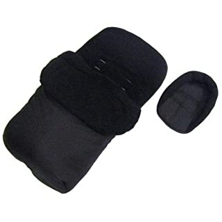 Deluxe 2in1 Universal Black Footmuff & Headhugger To Fit Mamas & Papas Acro