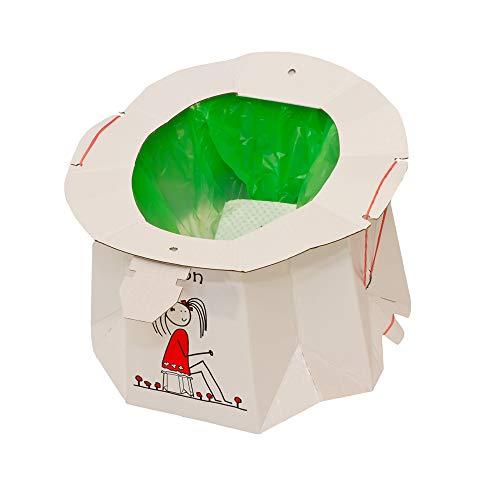 Hippychick Tron usa e getta da viaggio vasino-bianco-12PC confezione