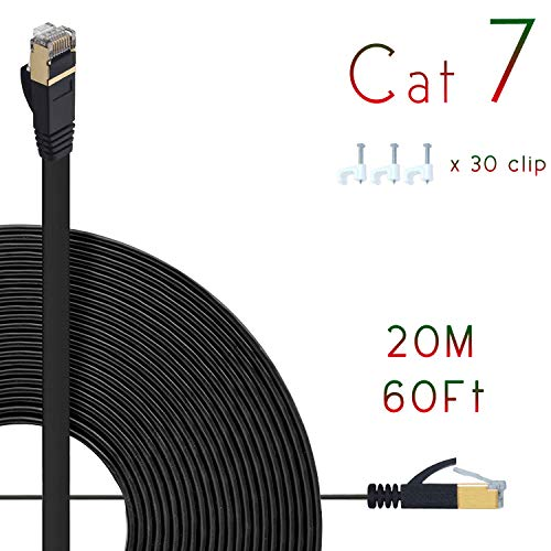8 Meters HanYun Cat6 1000Mbps 250MHz Flat Ethernet Patch Internet Cable 25 ft