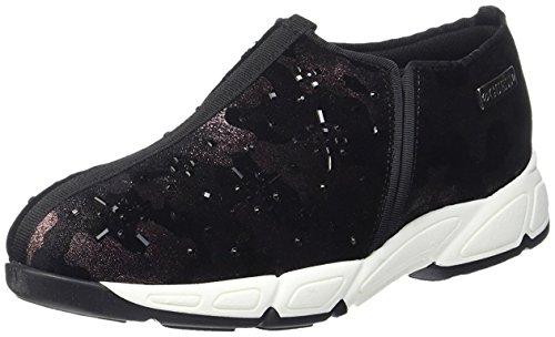 Scarpe Donna Guess sneaker in tessuto stampato impreziosite Mod.FLLET4-SAT12-nero Vinaccia