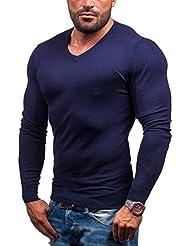 BOLF Herrenpullover Pulli Sweatshirt Sweatjacke Sweater Top LOUIS PLEIN 6002