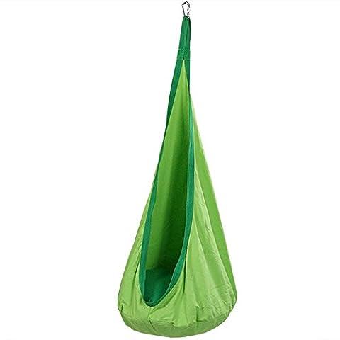 Cqdc enfants 's Jour Creative Cadeau Swing Hamac Intérieur Unique Sac Fauteuil à bascule Printemps Tour Vert