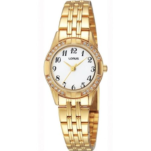 LORUS LADIES GOLD PLATED STONE SET WATCH