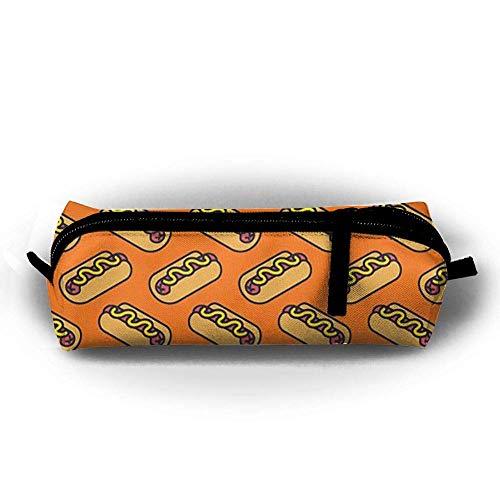 Hot Dog Portable Pen Bag Stylish Zipper Pencil Case Pouch Bag for Women Girls Kids Teens