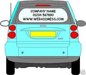 Online Design Rear Window Advertising Car Van Decal Business Sign - Car window decals for business uk