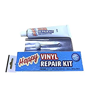 Happy Hot Tubs WET or DRY Swimming Pool Liner Vinyl Repair Kit Inflatable Tub Patch Paddling, Clear