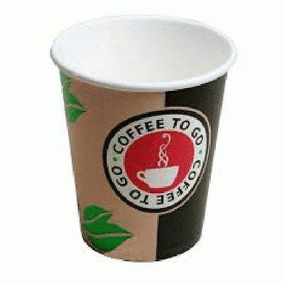 200 Stk. Kaffeebecher Topline, 'Coffee to go', Pappe beschichtet, 12oz., 300 ml