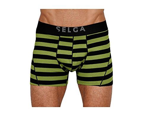 SELGA Herren Boxer Shorts (2Stück) Baumwolle/Lycra Strech Trunks–
