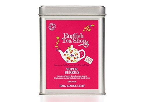 English Tea Shop Organic Super Berries - 100g Loose leaf tea in a Tin