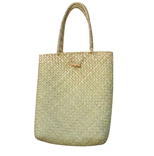 131fc858a5a8a ZKOO Frauen Webart Woven-Strand-Tasche Damen Handgemachte Stroh-Beutel  Durable Schultertasche für