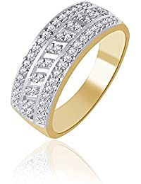 V. K. Jewels Sparkle Gold And Rhodium Plated Ring For Women - Fr1119G [Vkfr1119G]