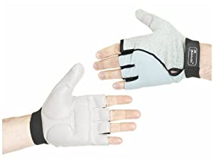 Ability Superstore Wheelchair Leather Gel Palm Gloves Silver/ Grey