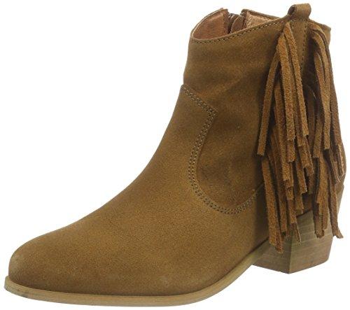 Buffalo London ES 30719 SUEDE, Damen Kurzschaft Cowboystiefel, Braun (BEIGE 01), 39 EU (Buffalo Leder Cowboy-stiefel)