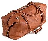 Berliner Bags München XL Weekender Reisetasche Handgepäck Sporttasche echtes Leder Damen Herren Vintage Braun I 55x40x20