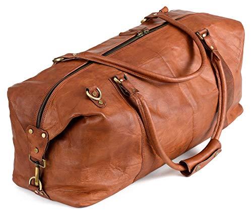 Berliner Bags München Weekender Reisetasche - Geeignet als Handgepäck bei den meisten Airlines - Leder Herren Braun Groß -