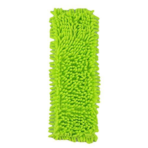 für Flachmopp Mops Bodenreinigung Pad Chenille Flachmopp-Kopf Ersatz Refill Kopf von Boden Mopps (grün) ()