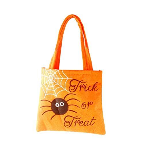 Halloween-Tragetasche, Kürbis-Spinnen-Muster, Segeltuch-Tasche für Mädchen Jungen, Unisex, Shopping, Studenten, Lieferanten, gelb