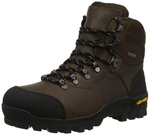 Aigle Herren Altavio Gore-Tex Leather Jagdstiefel Braun (Sepia/Black) 47 EU