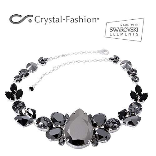 Crystal-Fashion Halskette mit Kristallen von Swarovski®, magnetisch, Schwarz