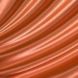 Satin Stoff Meterware Orange