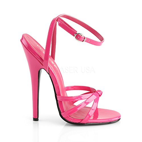 Pleaserusa Damen Tacco Alto Stiletto Sandaletten Sandalen Domina-108 Mancanza Hot Pink Mancanza Hot Pink