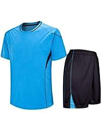 Moberlin Fútbol Jerseys Uniforme Niños Adulto Soccer Equipo Formación  Competencia Camiseta   Shorts Set 946a757a09d38