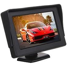 SODIAL(R)4.3 pulgadas Portatil Color LCD Coche Monitor de la pantalla de copia de seguridad