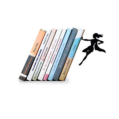 """Preisvergleich Produktbild Artori Design""""Supergirl"""" / Superhelden-Buchstütze aus Metall / Einzigartiger Buchhalter / Geschenk für Mädchen / Geschenk für Bücherliebhaber / Coole Buchstütze"""
