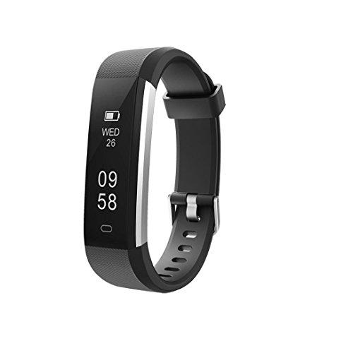Fitness Tracker Smartwatch für iOS Android, VNEIRW ID115U Bluetooth Wasserdicht Sportuhren Intelligente Uhr mit Schrittzähler/Kalorien/Remote-Kamera (Schwarz)