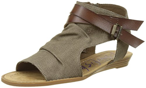 Blowfish - Balla, Sandali Donna, Marron (Balla Brn RANCHER Canvas), 37