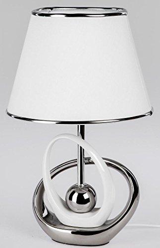 formano trendige Dekorations Lampe in weiß-silber, 40 cm