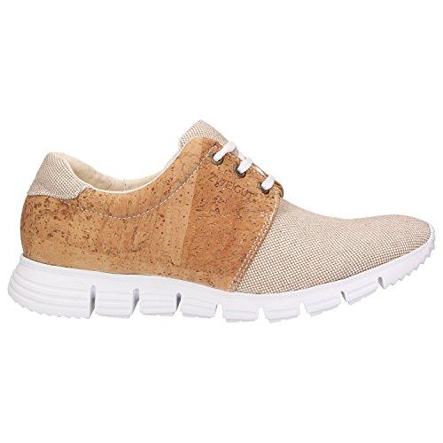 ZWEIGUT Hamburg- Echt #408 vegane Kork-Sneaker mit Flexibler Laufsohle Unisex Schuhe, Schuhgröße:42, Farbe:Beige-Kork - 2