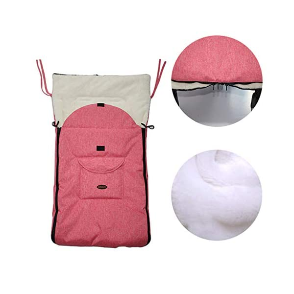 DENGHENG Baby Sleeping Bag Infant Winter Stroller Thick Warm Envelope Sleepsacks Footmuff DENGHENG ❤ Stroller Sleep Bag, Softly padded with warm fleece lining and extra quilting. ❤ 2 in 1 - Removable front unzips, easily converting to a comfy Seat liner ❤ Can Also be used as a Padded Pushchair or Buggy Liner- ideal for the summer months 7