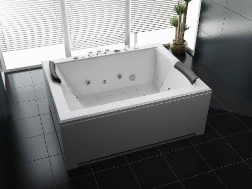 Luxus Whirlpool Badewanne 180×142 in Vollausstattung (Massage) – Sonderaktion