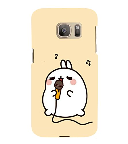 Fuson Designer Back Case Cover for Samsung Galaxy S7 Edge :: Samsung Galaxy S7 Edge Duos :: Samsung Galaxy S7 Edge G935F G935 G935Fd (Mike Rabbit Singing karaoke Music)  available at amazon for Rs.347