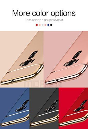 Asus Zenfone 3 Laser ZC551KL Hülle - Meimeiwu Elektroplattierter Kappen mit einer Matter Oberfläche 3-Teilige Styliche Extra Dünne Harte Schutzhülle Case für Asus Zenfone 3 Laser ZC551KL - Schwarz Gold