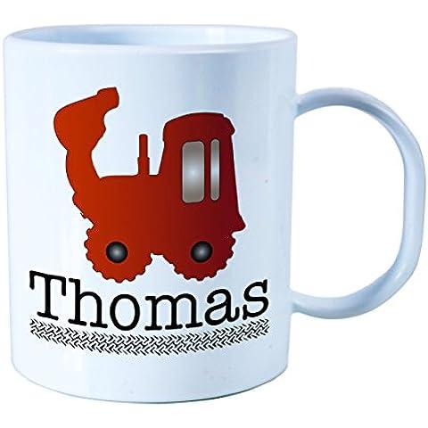 Personalizada de plástico irrompible Kids Cup, taza para bebé Tractor Tema para niños