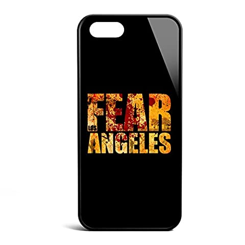 Smartcover Case Fear Los Angeles z.B. für Iphone 5 / 5S, Iphone 6 / 6S, Samsung S6 und S6 EDGE mit griffigem Gummirand und coolem Print, Smartphone Hülle:Iphone 5 / 5S (Staffel 4 Walking Dead)