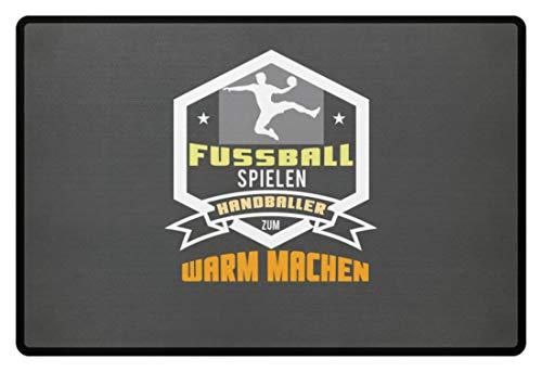 Schuhboutique Doris Finke UG (haftungsbeschränkt) Fußball spielen Handballer zum warm mach - Fußmatte -60x40cm-Mausgrau