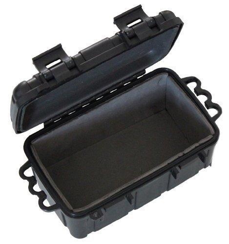 Kunstoff-Box spritzdicht 16,5x12x7,5 cm schwarz - für Outdoor / Camping / Bootsport / Survival - original Inet-Trades GmbH