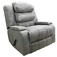 Multi relaxation poses Recliner Chair With Storage Container and Moveable Back Cushions - Grey