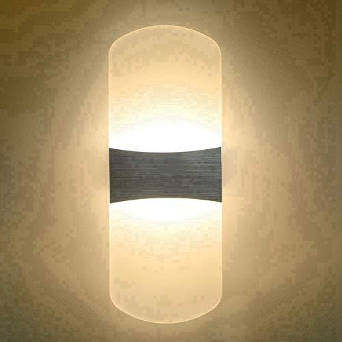 Wandleuchte LED 6W Lampe Innen modern Design auf und ab Indoor Wandlampen Dimmbare Acryl Wandleuchte...