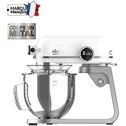 Faure FKM-802MP1 Robot Pâtissier Magic Baker Premiuim - 800W transmission directe -Mouvement Planétaire - Bol Inox 5,2L - Coloris Blanc