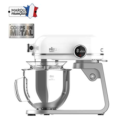 Faure FKM-802MP1 Robot Pâtissier Magic Baker Premiuim - 800W transmission directe -Mouvement...