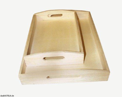RAYHER - 6208400 - madera-bandeja-set, 2 tamaños, 30 x 20 cm, 39 x 28 cm