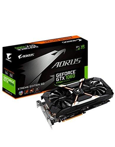 Galleria fotografica Gigabyte AORUS GeForce GTX 1060 Xtreme Edition 6G (rev. 2.0) GeForce GTX 1060 6GB GDDR5 - graphics cards (NVIDIA, GeForce GTX 1060, 7680 x 4320 pixels, 1645 MHz, 1873 MHz, 6 GB)