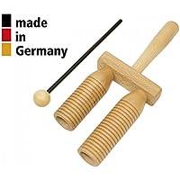 ROHEMA Agogo klein 2-tone Holz mit Mallet