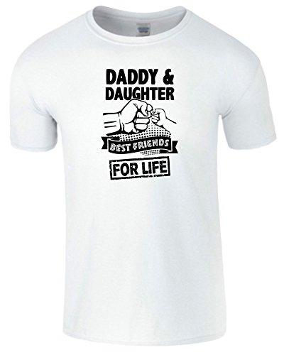 Daddy And Daughter Beste Freunde Zum Leben TShirt Komisch Tee weiß (White) / Schwarz Design