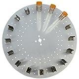 neolab D de 8502sunlab Plato con 16pinzas para 15ml Tubos, aluminio